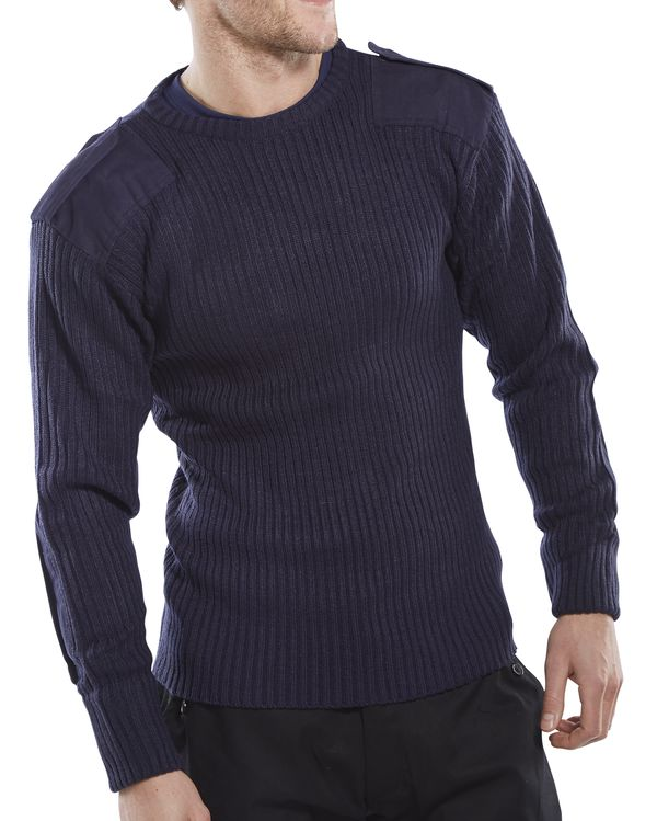 MILITARY STYLE CREW-NECK SWEATER - AMODC