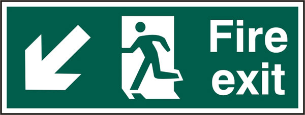 FIRE EXIT SIGN - BSS12109