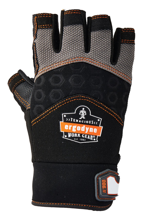 ERGODYNE IMPACT FINGERLESS GLOVE - EY900