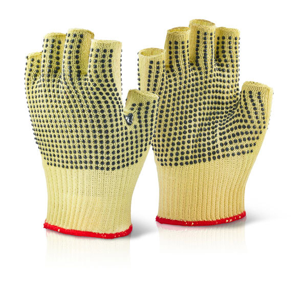 REINFORCED FINGERLESS DOTTED GLOVE - KFLGMWD